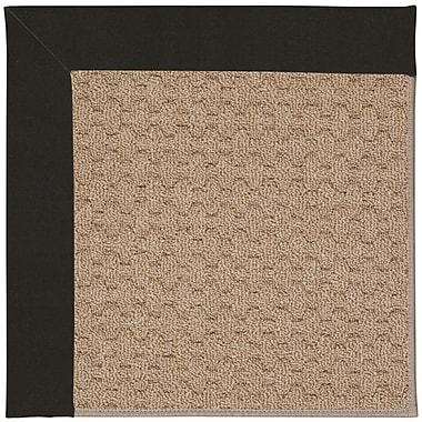 Capel Zoe Grassy Mountain Machine Tufted Ebony/Brown Indoor/Outdoor Area Rug; Rectangle 2' x 3'
