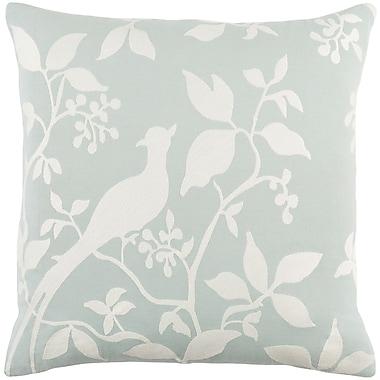 Artistic Weavers Kingdom Cotton Throw Pillow; Dusty Aqua/ White