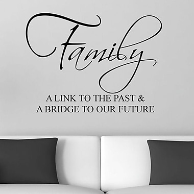 DecaltheWalls Family A Link to the Past and A Bridge to Our Future Wall Decal