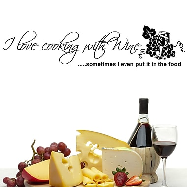 DecaltheWalls I Love Cooking w/ Wine... Wall Decal