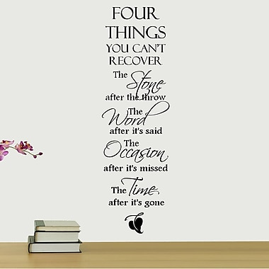 DecaltheWalls Four Things You Can't Recover Quote Wall Decal
