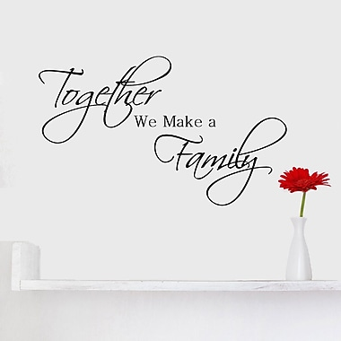 DecaltheWalls Together We Make a Family Quote Wall Decal