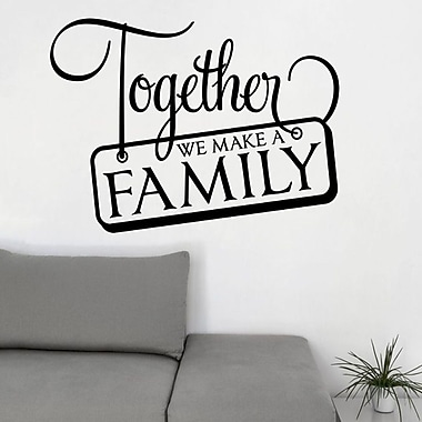 DecaltheWalls Together We Make a Family Wall Decal