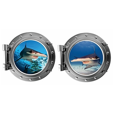 DecaltheWalls The Hammerheads Porthole Fabric Wall Decal
