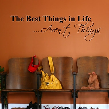 DecaltheWalls The Best Things in Life Aren't Things Wall Decal