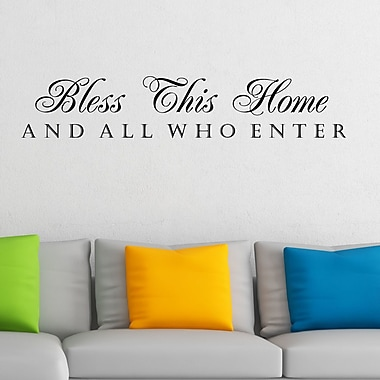 DecaltheWalls Bless This Home and All Who Enter Wall Decal