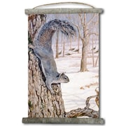 WGI GALLERY 'Morning Feed Squirrels' Painting Print on White Canvas