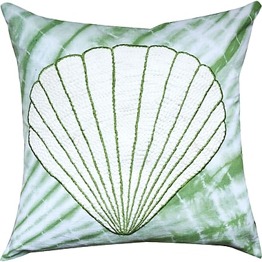 A1 Home Collections LLC Zea Tie and Die Shell Cotton Throw Pillow