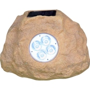 Homebrite Solar Solar 4-Light Spot Light (Set of 3); Sandstone