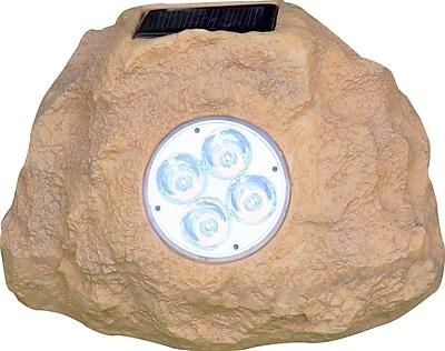 Homebrite Solar Solar 4-Light Spot Light (Set of 3); Sandstone