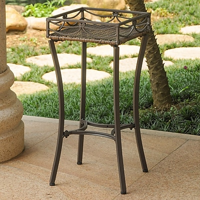 International Caravan Valencia Novelty Plant Stand; Antique Bronze