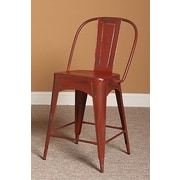 Largo Timbuktu 24'' Bar Stool; Red