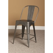Largo Timbuktu 24'' Bar Stool; Rubbed Steel