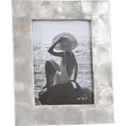 Saro Capiz Photo Picture Frame; Gold