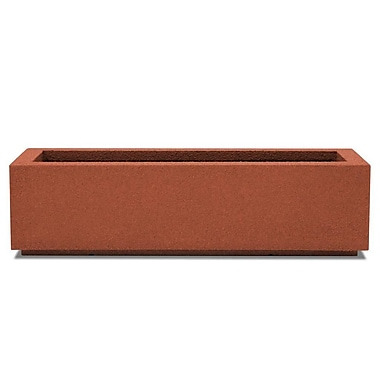 Poly-Stone Planters Rectangular Planter Box; Red Clay