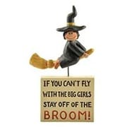 Blossom Bucket  Stay Off Broom  Plaque with Witch