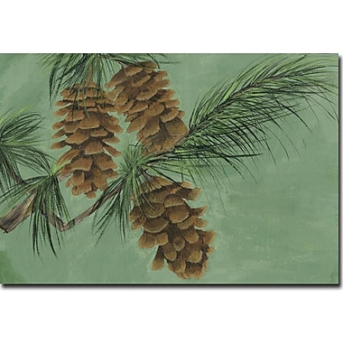 WGI GALLERY 'Pine Cone New' Painting Print on Wood; 16'' H x 24'' W x 0.5'' D