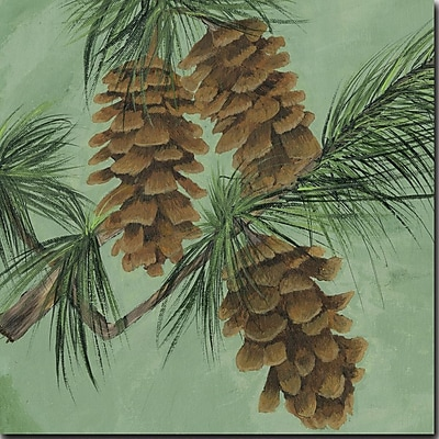 WGI GALLERY 'Pine Cone New' Painting Print on Wood; 24'' H x 24'' W x 1'' D