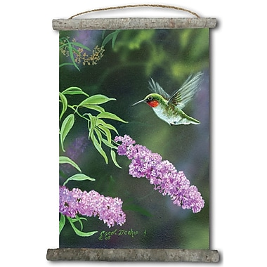 WGI GALLERY 'Humming Butterfly Bush' Painting Print on White Canvas