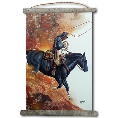 WGI GALLERY 'Hell Bent For Leather' Painting Print on White Canvas
