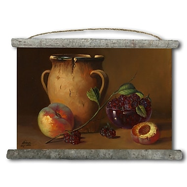 WGI GALLERY 'Jug and Fruit' Painting Print on White Canvas
