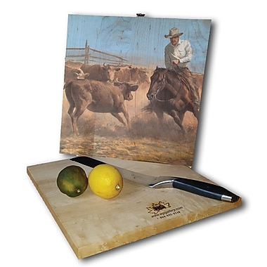 WGI GALLERY Working Girl 12'' x 12'' Cutting Board
