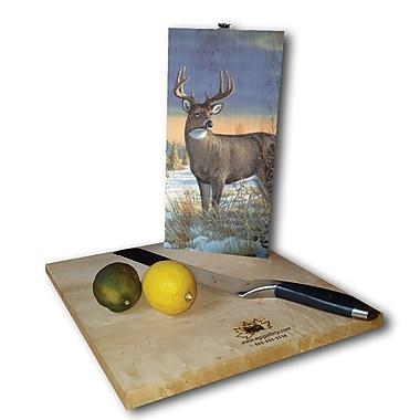WGI GALLERY Whitetail Deer in Winter 12'' x 6'' Cutting Board