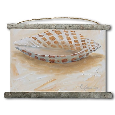WGI GALLERY 'Sea Shell #4' Painting Print on White Canvas