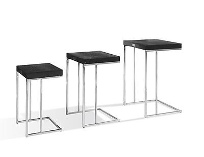 VIG Furniture A&X Amelia 3 Piece Nesting Tables; Black