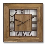 Melrose Intl. Square Roman Numeral Wall Clock