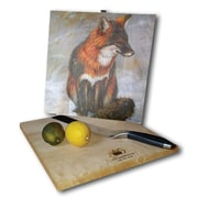 WGI GALLERY Gray Fox 12'' x 12'' Cutting Board