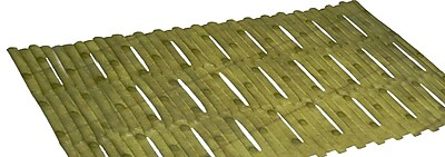 Carnation Home Fashions Bamboo Look Vinyl Bath Tub Mat; Green WYF078278311876