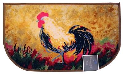 Kashi Home Rooster Kitchen Mat; 1'8'' x 3'4''