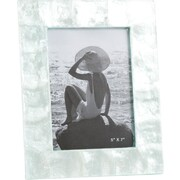 Saro Capiz Photo Picture Frame; Aqua