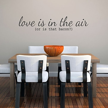 SweetumsWallDecals ''Love Is in the Air or Is that Bacon'' Wall Decal; Dark Gray