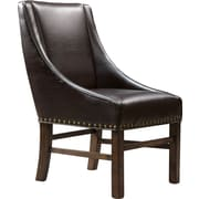 Home Loft Concepts James Genuine Leather Upholstered Dining Chair (Set of 2)