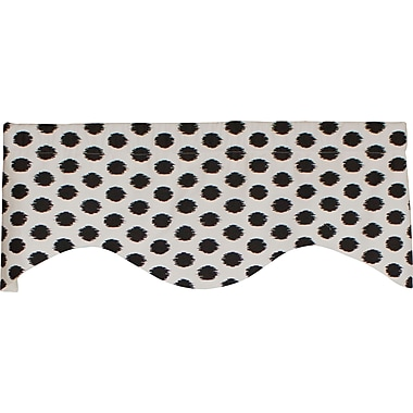 RLF Home Jo-Jo Dot Cornice 50'' Curtain Valance; Black