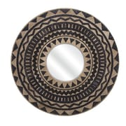 Woodland Imports Aztec Embroidered Wall Mirror