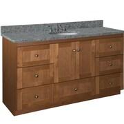 Strasser Woodenworks Simplicity 60'' Vanity Base; Medium Alder