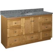 Strasser Woodenworks Simplicity 60'' Vanity Base; Natural Alder