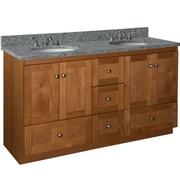 Strasser Woodenworks Simplicity 60'' Vanity Base; Medium alder finish