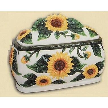 ABCHomeCollection Decorative Sunflowers 3D Large Ceramic Bread Box