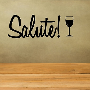 DecaltheWalls Salute w/ Wine Glass Wall Decal