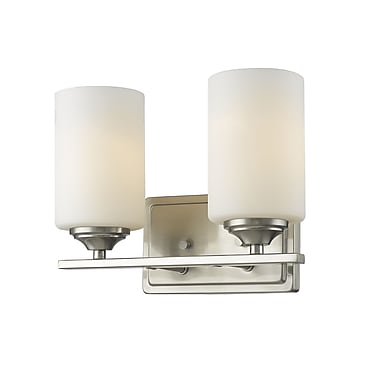 Z-Lite Bordeaux 2-Light Vanity Light; Brushed Nickel