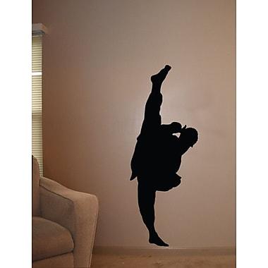 Wallhogs Martial Arts Kicking III Silhouette Cutout Wall Decal; 84'' H x 31.5'' W
