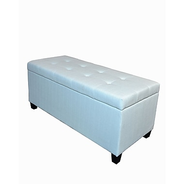 HD Couture Trisha Shoe Stallion Ottoman; Light Blue