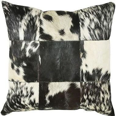 Wildon Home Throw Pillow; Black / White
