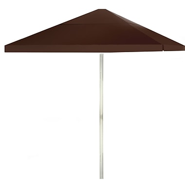 Best of Times 8' Square Market Umbrella; Dark Brown
