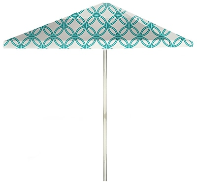 Best of Times 8.5' Square Market Umbrella; Teal/White