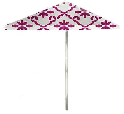 Best of Times 8.5' Square Market Umbrella; Magenta/White